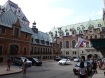 La cour du Chateau Frontenac