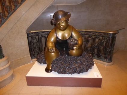Statue dans le Château Frontenac