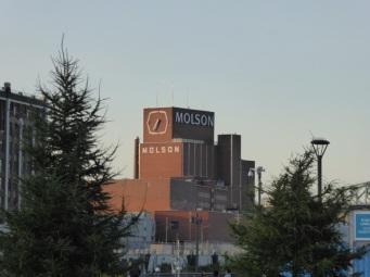 Vue sur les usines environnantes