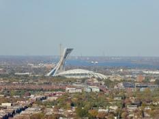 Vue du Stade Olympique depuis le Mont-Royal