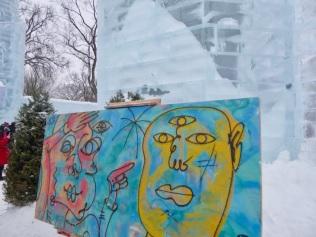 Du street art dans le château de glace