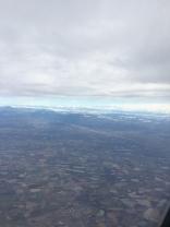 Retour - Au dessus des Dombes (01) avec vue sur les Alpes
